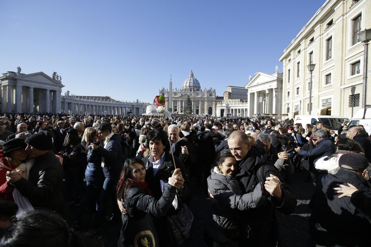 Un tango per Papa Francesco, Dicembre 2014