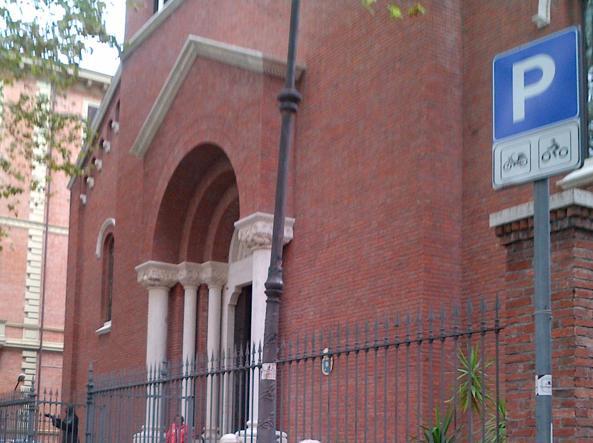 La facciata di Santa Teresa d'Avila