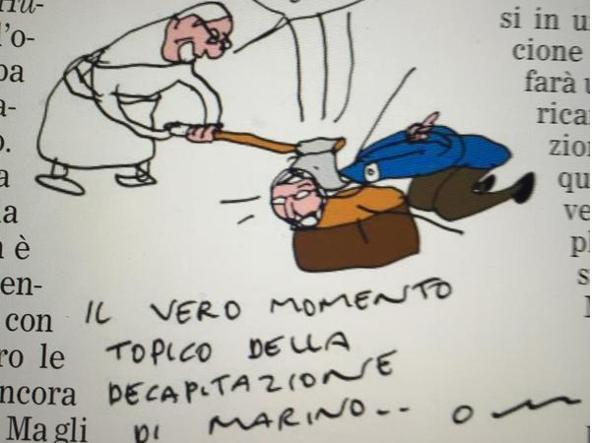 L'illustrazione di Vincino