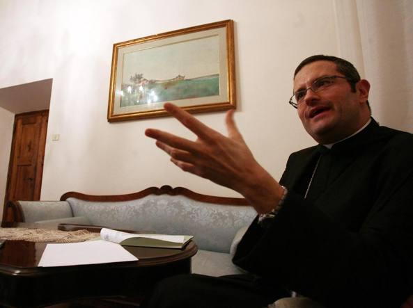 Pietro Vittorelli durante un'intervista al Corriere nel 2008 all'Abbazia di Montecassino (Jpeg)