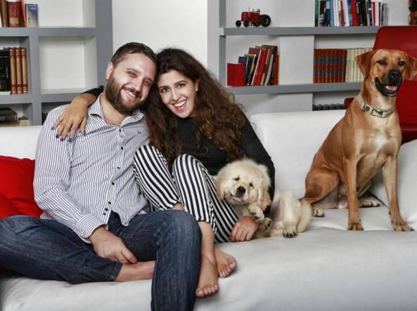 Francesca Chaouqui con il marito Corrado Lanino (Fotogramma)