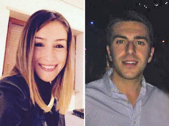 Annachiara D'Onofrio e Graziano Bruognolo in due immagini su Facebook