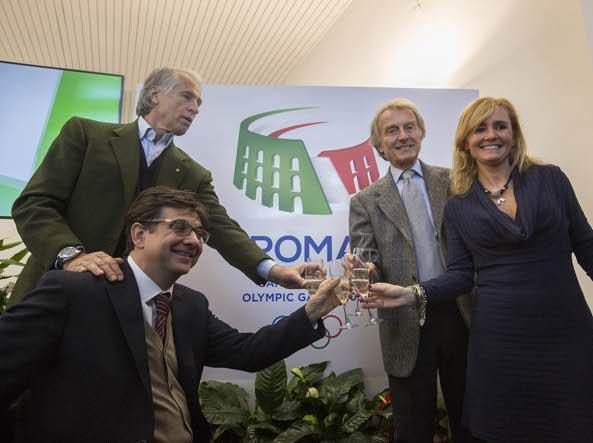 Giovanni Malag�, Luca Pancalli, Luca Montezemolo, Diana Bianchedi (LaPresse)