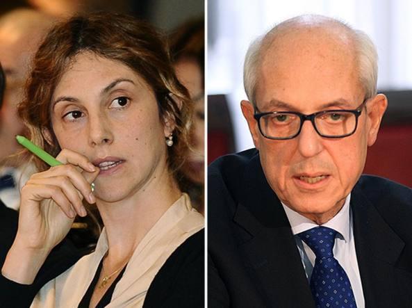 Il ministro Marianna Madia e il commissario  Francesco Paolo Tronca