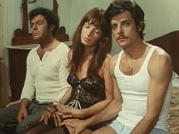 «Dramma della gelosia»: Marcello Mastroianni, Monica Vitti e Giancarlo Giannini