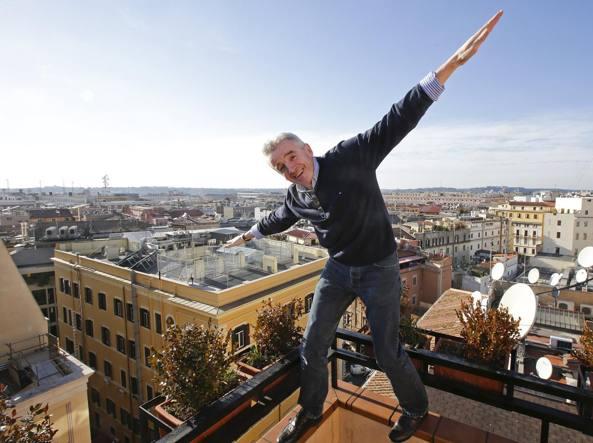 L'amministratore delegato di Ryanair Michael O'Leary  a Roma presenta il nuovo programma (Reuters)
