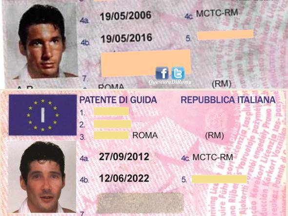 Le patenti contraffatte dal truffatore denunciato dalla Postale