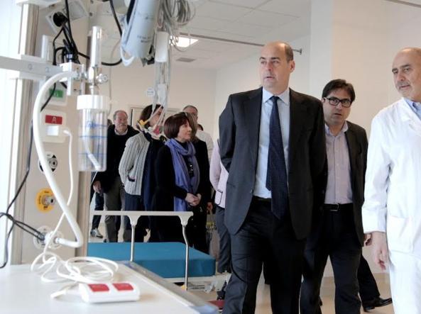 Nicola Zingaretti visita il nuovo pronto soccorso del Casilino (Omniroma)