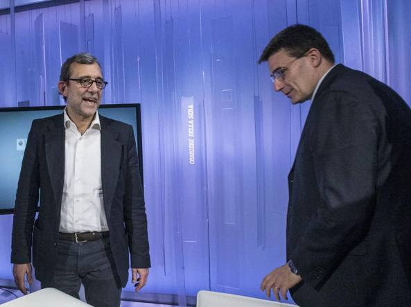 Roberto Giachetti e Roberto Morassut negli studi di Corriere.Live (Jpeg)
