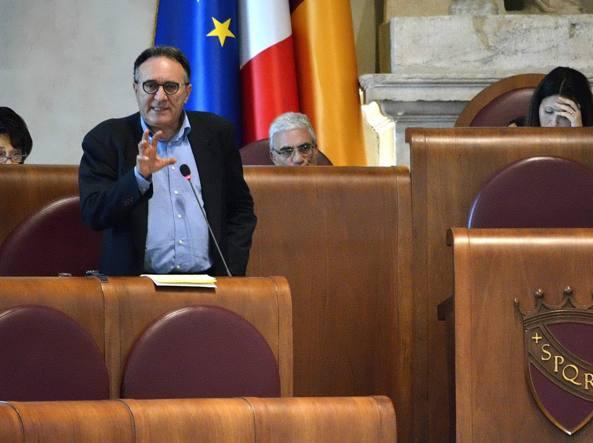 Marco Causi nell'Aula Giulio Cesare (Jpeg Fotoservizi)