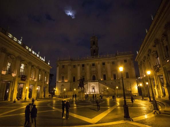 La piazza del Campidoglio (Jpeg fotoservizi)