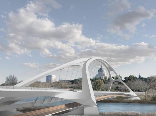 Il rendering del progetto del Ponte dei Congressi
