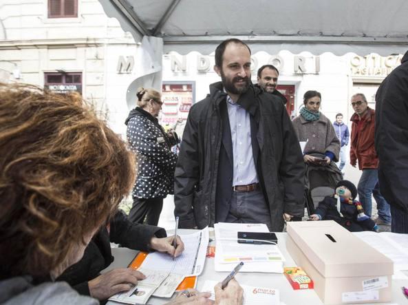 Matteo Orfini al voto domenica scorsa (foto Jpeg)