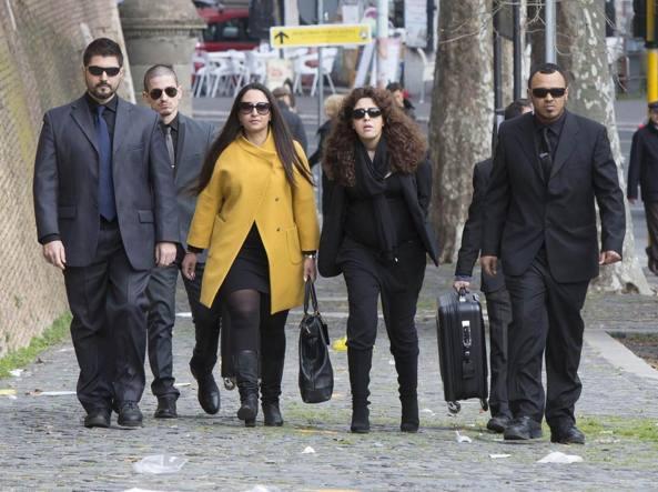 L'arrivo di Francesca Immacolata Chaouqui in Vaticano per il processo (Jpeg)