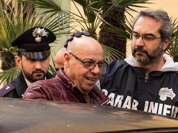L'arresto di Manlio Vitale, «er gnappa» (Ansa)