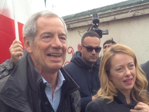 Guido Bertolaso e Giorgia Meloni (Ansa)