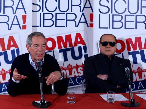 Guido Bertolaso e Silvio Berlusconi (Jpeg fotoservizi)
