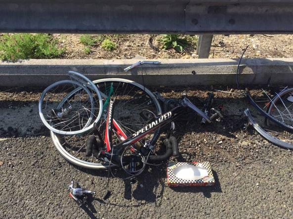 La carcassa di una delle bici (Proto)