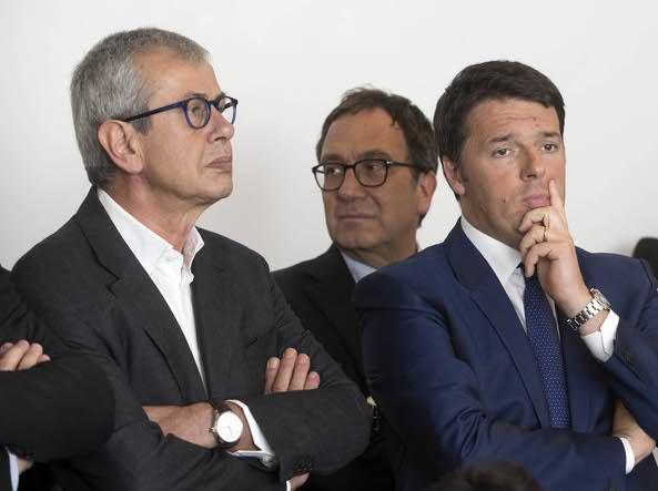 Chicco Testa e Matteo Renzi (Jpeg)