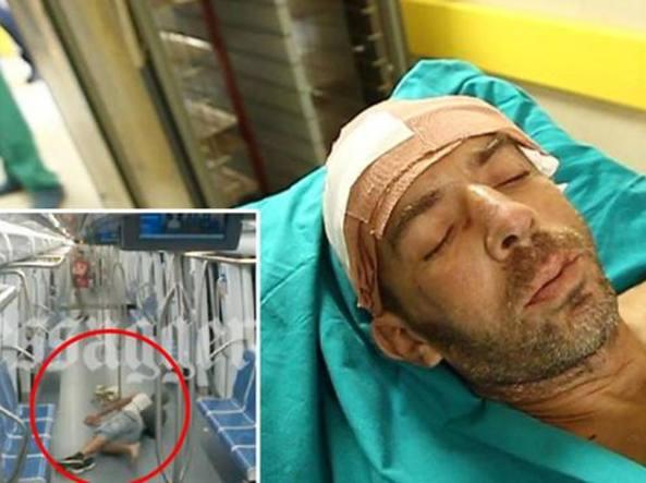 Violenza nella metro di Roma, il video dell'aggressione