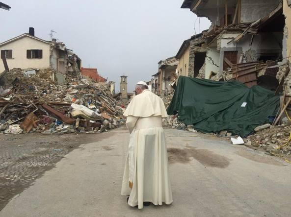 Papa Francesco ad Amatrice: