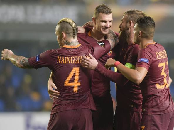 Nainggolan, Dzeko, De Rossi ed Emerson (Getty Images)
