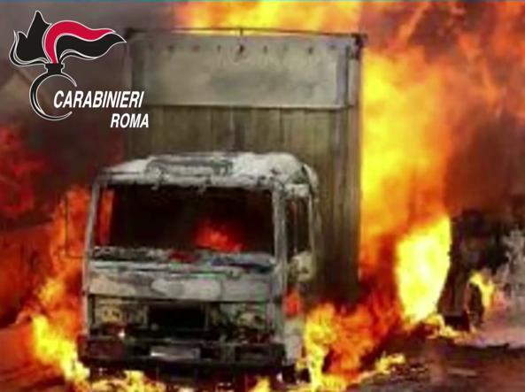 Incendiarono ditta di autotrasporti a Fiano Romano, 4 arresti
