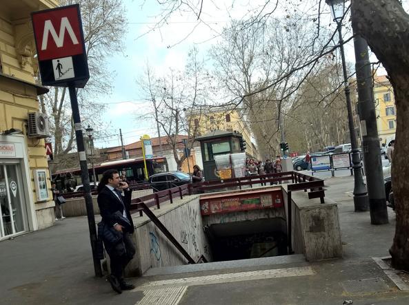 La fermata metro Ottaviano, a Prati (foto Proto)