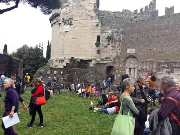 La scorsa edizione dell'Appia day (Ansa)