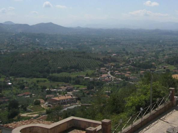 La Valle del Sacco vista da Alatri (foto Wikipedia)