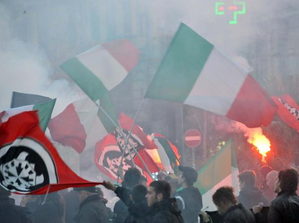 Roma, corteo Casapound contro ius soli