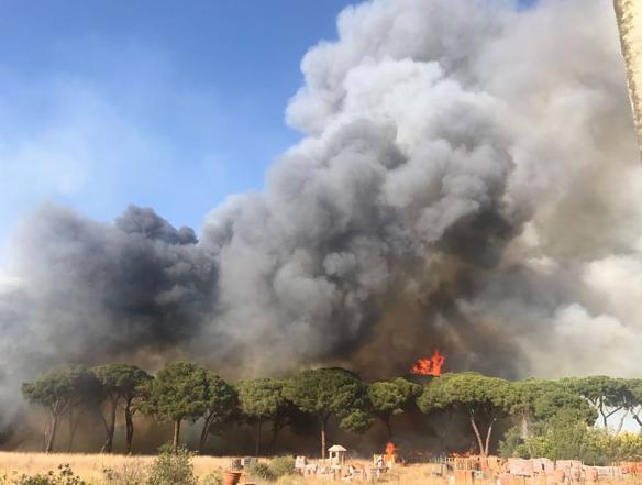 L'incendio a Castel Fusano (Proto)