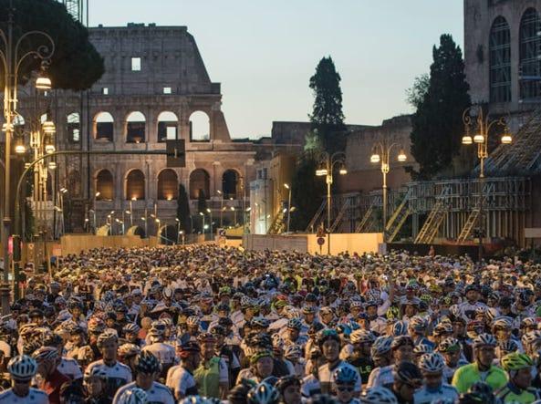 (Foto Luca Sestili/Granfondo Campagnolo Roma)