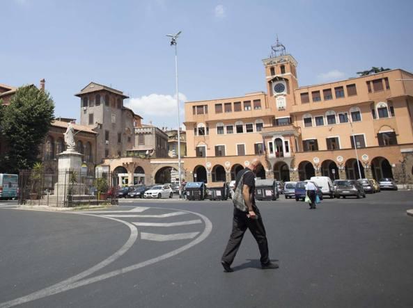 Piazza Sempione nel quartiere Montesacro (LaPresse)