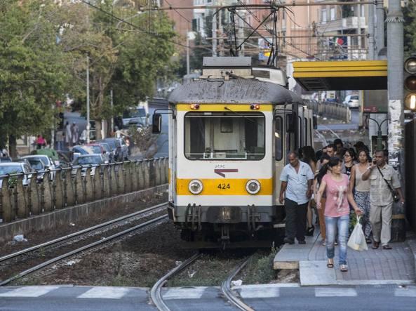 Un treno della linea Roma-Giardinetti (Jpeg fotoservizi)