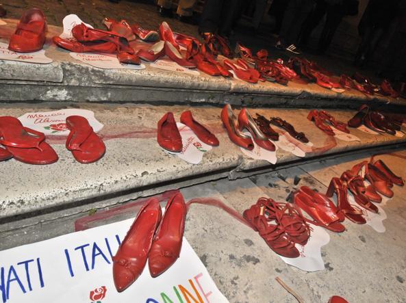 La giornata contro la violenza sulle donne in Campidoglio (LaPresse)