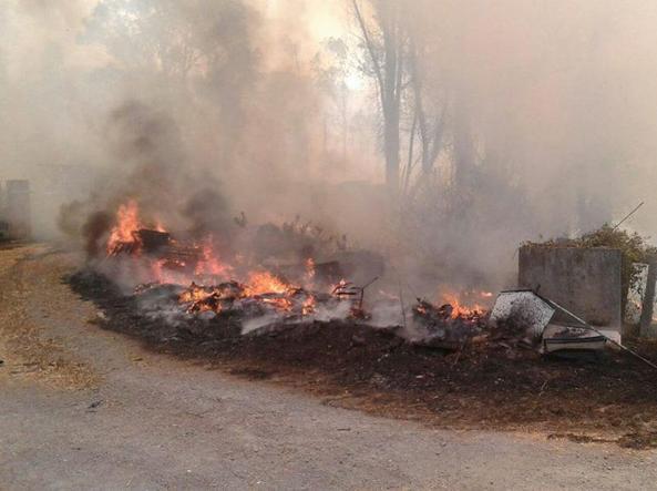 Incendi, rogo di Flaminia: chiuso il cimitero di Prima Porta