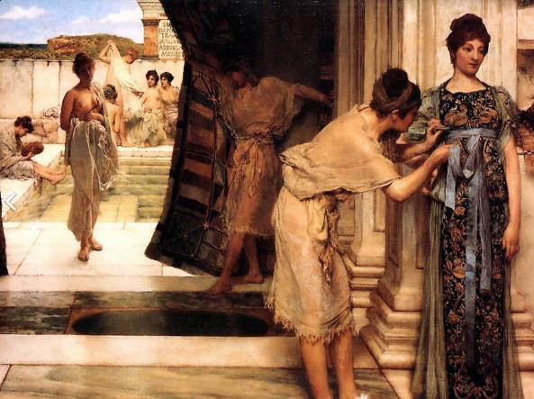 «Donne romane nel frigidarium», un dipinto di sir Lawrence Alma-Tadema