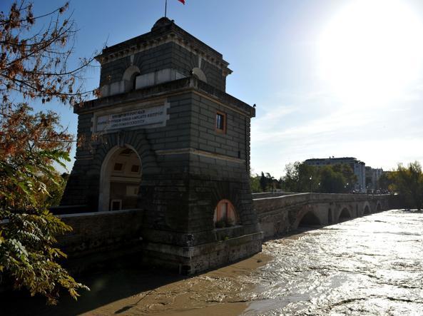 Una delle ultime piene a Ponte Milvio