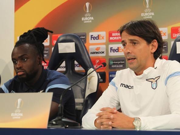 Lukaku, a sinistra, e il tecnico della Lazio Inzaghi (Getty Images)