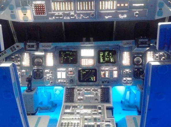 L'interno di un veicolo spaziale