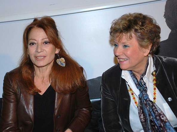 Dacia Maraini (a destra) con l'attrice Raffaella Azim