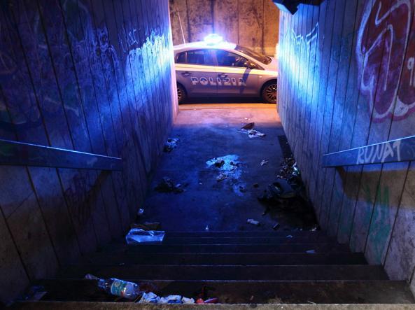 Il luogo dell'omicidio della brasiliana (foto Proto)