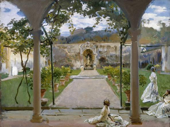 John Singer Sargent, «At Torre Galli. Ladies in a garden», 1910