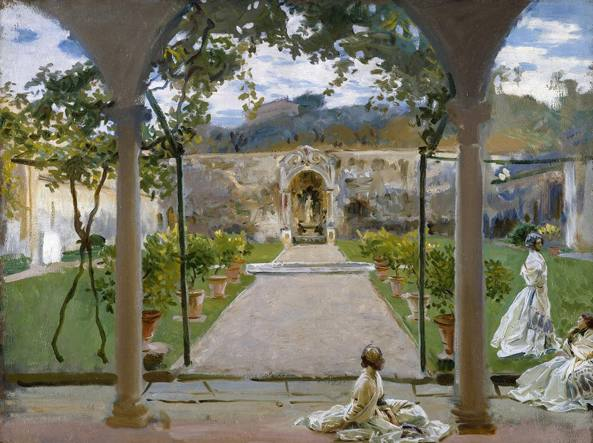 John Singer Sargent, «At Torre Galli. Ladies in a garden», 1910