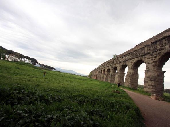 Una veduta del parco degli Acquedotti, all'Appio Latino