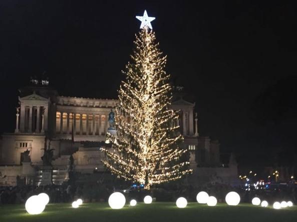 Raggi dice che l'albero di Natale di Roma tornerà