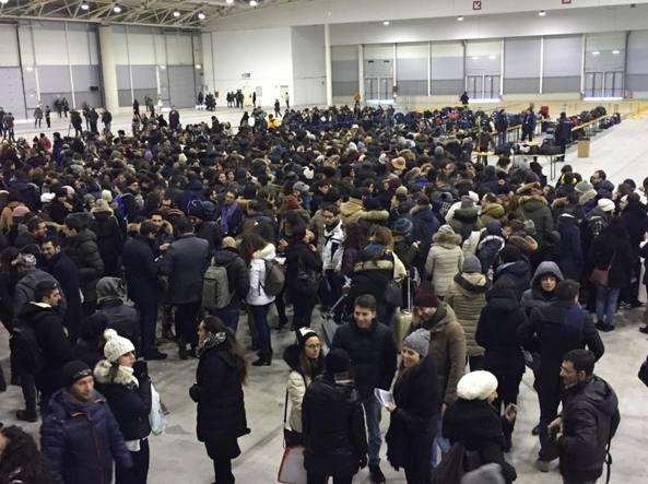 Maxi concorso Inps: prima prova a Roma sotto la neve